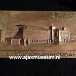 Bronzen Ajax plaquette stadion de Meer 1935. Ajax KNVB junioren kampioen 1935