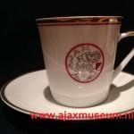 Kopje en schoteltje oud logo Ajax 1930 - 1950