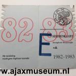 Voorkant seizoenkaart 1982 - 1983 vak E Stadion De Meer