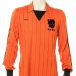 Oud Nederlands Elftalshirt gedragen door Peter Boeve in 1982