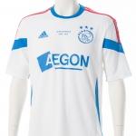 Dit shirt is eenmalig gemaakt vanwege het afscheid van Aegon als hoofdsponsor van Ajax en heb ik mogen ontvangen tijdens de wedstrijd Ajax – FC Utrecht, seizoen 2014-2015