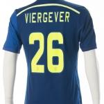 Wedstrijdshirt Nick Viergever. Gedragen tijdens Az – Ajax 1-3, seizoen 2014 – 2015 uit