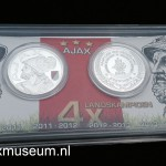 Muntenset Ajax 4 x landskampioen 2010 - 2011, 2011 - 2012, 2012 - 2013 en 2013 - 2014.