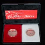 Afscheids munt De Meer 1934 – 1996 Openings munt De Arena 14 augustus 1996.