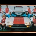 Houten bord. Allemaal fan van Citroën.