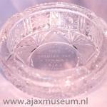 Ajax asbak van kristal Semifinale Pem 1969 Spartak Taz Trnava Ajax Amsterdam – V Trnava Uitslag thuis 3-0 Uitslag uit 2-0.