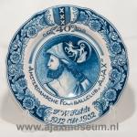 40 jaar bordjesclub Amsterdamsche Footballclub Ajax F.W. Hohle 1912 oktober 1952