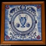 Delfts blauw plateau Europa-cup Ajax 1970 - 1971.