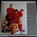 Foto in lijst uit 1967: Johan Cruijff, Piet Keizer, Sjaak Swart en Klaas Nuninga.