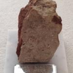 Beeld met steen van stadion De Meer 1934 - 1996