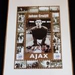 Collage Gouden Jaren Johan Cruijff.  Johan Cruijff maakte zijn debuut in Ajax 1 op 15 november 1964.