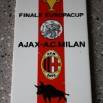 Tegeltje Finale Europacup Ajax - Ac Milan, Madrid 28 mei 1969, uitslag 1-4