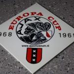 Tegeltje Ajax Europa cup  1968 - 1969
