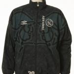 Trainingspak Ajax gedragen door Mario Melchiot nummer 28, seizoen 1995 – 1996