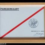 Originele parkeerkaart opening Ajax Stadion De Meer 1934.