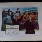 Collage Rinus Michels 'De Generaal.' Dutch Football Legends nr: 14/500