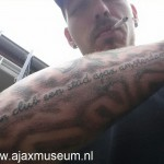 tattoo ajax een club een stad Ajax Amsterdam