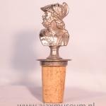 Wijnfles afsluiter Ajax oude logo. Echt zilver
