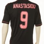 Mister Ajax Sjaak Swart werd 3 juli 2013 75 jaar.  Het feest werd groots gevierd met een wedstrijd tussen Lucky Ajax en oud-internationals in het Olympisch Stadion te Amsterdam. Yannis Anastasiou speelt deze wedstrijd ook mee in dit shirt.