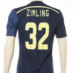 Gedragen door Niki Zimling in Europa League wedstrijd.