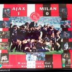 Collage Ajax - AC Milan 1-0. Winnaar Europa Cup 1. Wenen 24 mei 1995