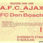 Wedstrijd: Ajax - Fc Den Bosch  Datum: 16-4-1990  Uitslag: 6-0