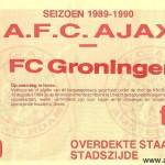 Wedstrijd: Ajax - FC Groningen Datum: 5-11-1989 uitslag 3-2