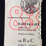 Dameskaart 1982-1983