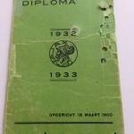 Voorkant Diploma Ajax 1932 - 1933