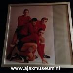 Foto in lijst uit 1967 Johan Cruijff, Piet Keizer, Sjaak Swart en Klaas Nuninga