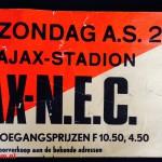 Tramkaart Ajax - Nec. Stadion De Meer