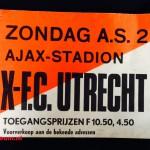 Tramkaart Ajax - Fc Utrecht. Stadion De Meer