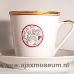 Kopje en schoteltje oud logo Ajax 1930 – 1950