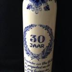 Aangeboden aan Wim Volkers 'De Mug' ter gelegenheid van het 30-jarige bestaand van de Ajax Bordjesclub  1945 - 1975