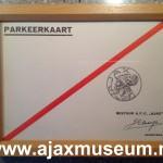 Originele parkeerkaart opening Ajax Stadion De Meer 1934