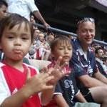 Met papa Ajax kijken