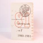 Seizoenkaart 1981 – 1982 vak F Stadion De Meer