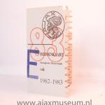 Seizoenkaart 1982 – 1983 vak E Stadion De Meer