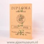Diploma 1951 - 1952 Ajax