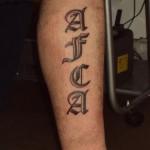 Tattoo van Morris
