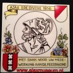 Ajax eredivisie 1956 met dank voor uw medewerking aan de feestavond
